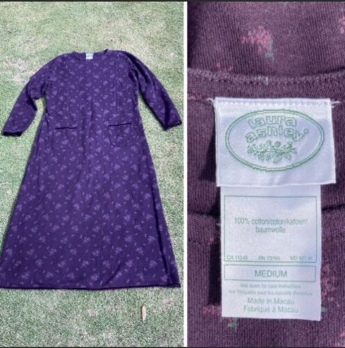 Vintage Laura Ashley 1990s Floral Maxi Dress Medi… - image 1