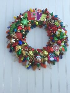 Image Is Loading Vintage Christmas Lightbulb Light Bulb Wreath 18 Inch
