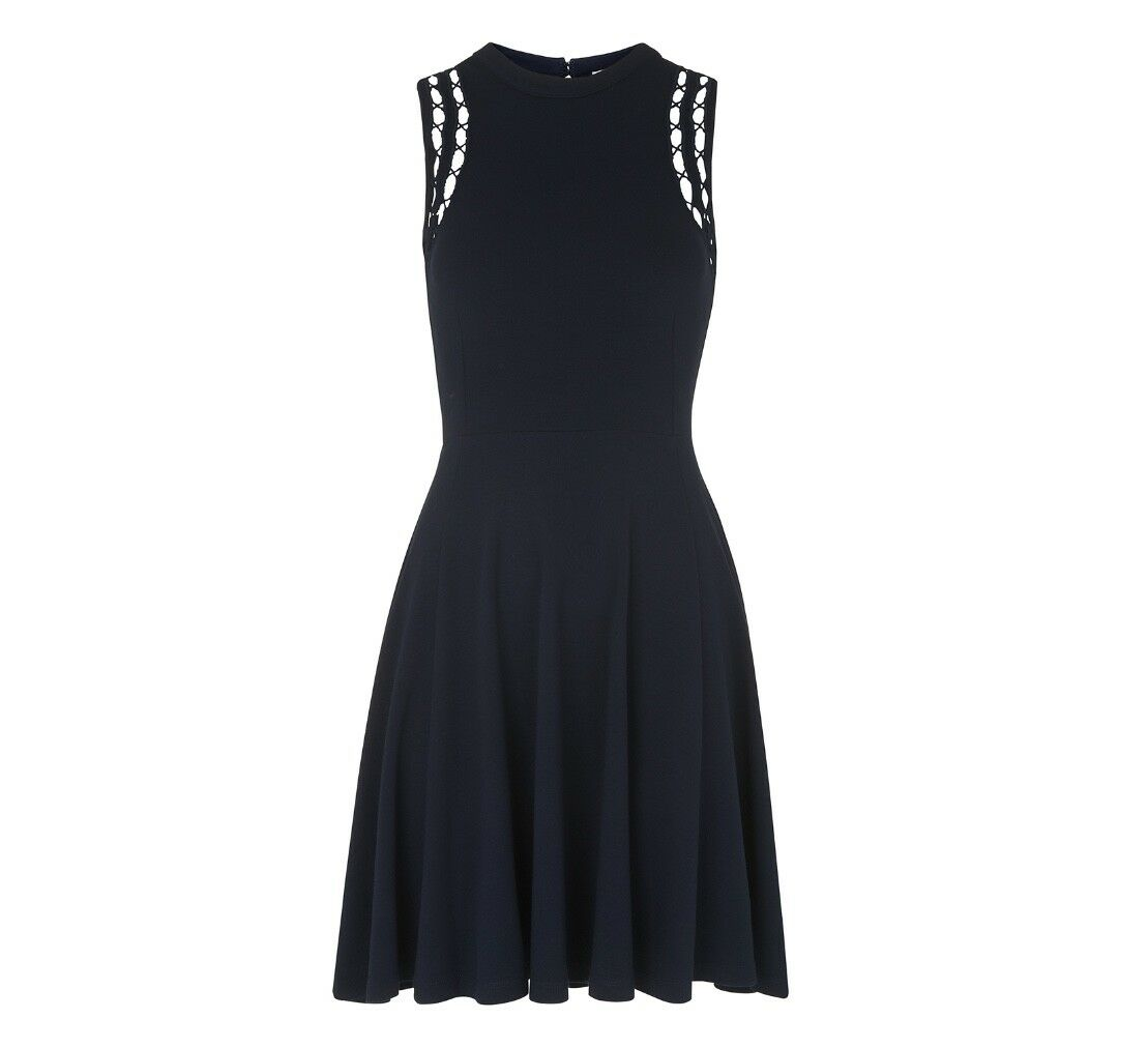 Whistles -- Lace Shoulder Dress - Navy - New With Tag -Size L 16