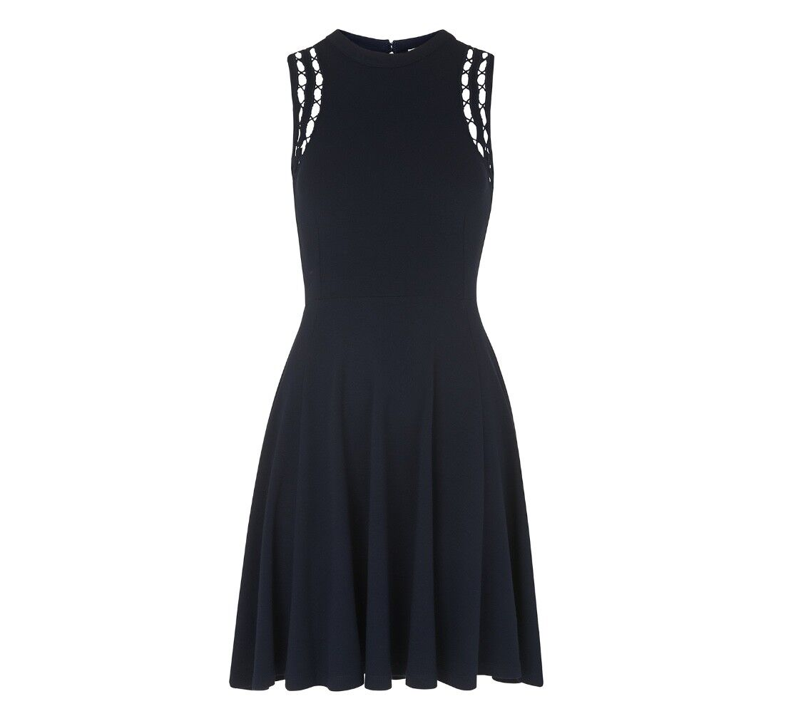 Whistles - Lace Shoulder Dress - Navy - New With Tag -Size S 8 10- Women's Dress