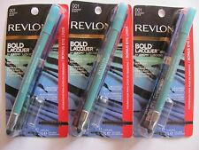 Revlon Bold Lacquer Mascara #001 BLACKEST BLACK Bonus Eyeliner Lot of 3