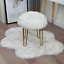 thumbnail 6 - Faux-Fluffy-Sheepskin-Wool-Seat-Pad-Retro-Round-Long-Fur-Cushion-Sofa-Chair-Mat