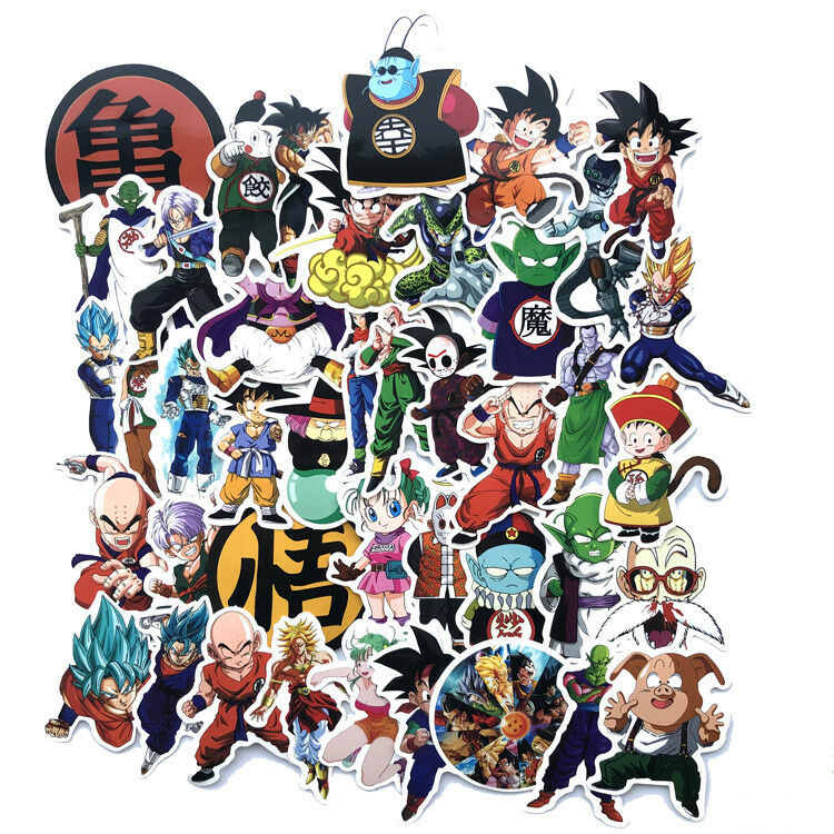 Home Decoration - 100 Pcs Anime Dragon Ball Z Super Saiyan Goku Stickers Decal For Laptop Phone