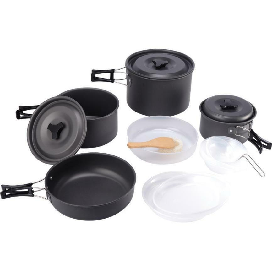 Portable Camping Hiking Cookware 15pcs Outdoor Camping Cookware Cooking Picnic B