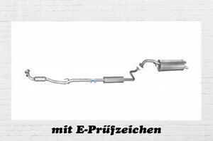 ENDSCHALLDÄMPFER Auspuff Auspuffanlage Toyota Yaris Set 1.0 VVT-i