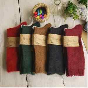 5-Pairs-Womens-Wool-Cashmere-Socks-Lot-Casual-Thick-Soft-Warm-Fashion-Shiny-Boot