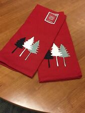 Set of two Red Kitchen Towels