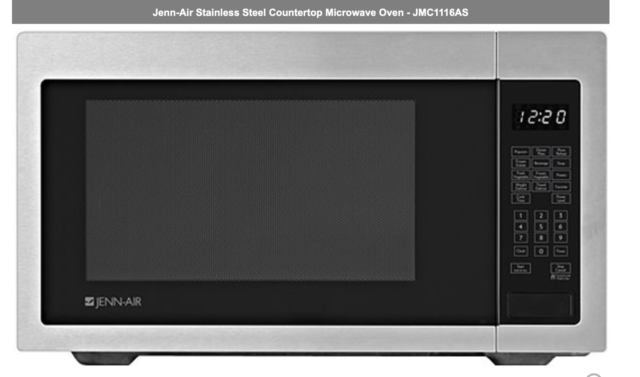 Jenn Air Microwave >> Jenn Air Jmc1116as Stainless Steel Countertop Microwave New