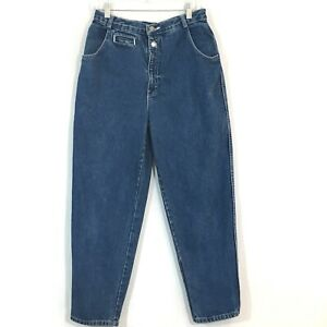 Calvin-Klein-Vintage-High-Waist-Mom-Blue-Denim-Jeans-Rare-Womens-Size-13-14