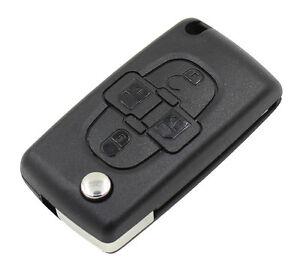 Coque-Plip-Boitier-Telecommande-Cle-4-boutons-pour-Citroen-C8-CE0523-Lame-HU83