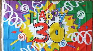 HAPPY-18th-21st-30th-40th-50th-60th-70th-Flags-Celebrate-Birthday-Anniversary-bn