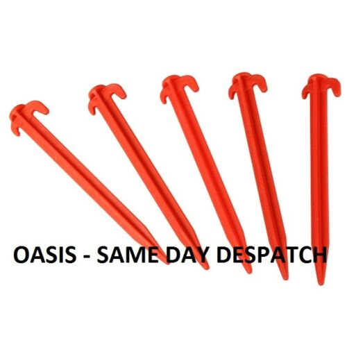 PLASTIC TENT PEGS 8 X 5 CARAVAN & CAMPING TENT AWNING,STRONG 200MM