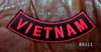 Vietnam Red On Black Back Patch Bottom Rocker For Biker Veteran Vest Jacket 10
