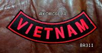 Vietnam Red On Black Back Patch Bottom Rocker For Biker Veteran Vest Jacket 10
