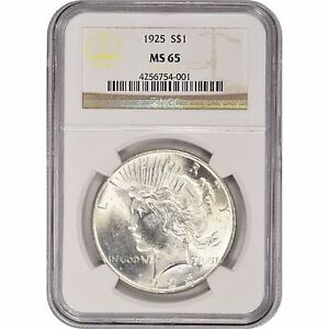 1922-1935-1-Silver-Peace-Dollar-NGC-MS65-Random-Year