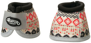 Large Ballistic Bell Boots Weaver Leather Nylon Ballistic No Turn Horse White