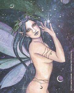 Details about Jessica Galbreth Celestia Moon Stars Sticker Decal NEW Fairy  Faery Angel Nude