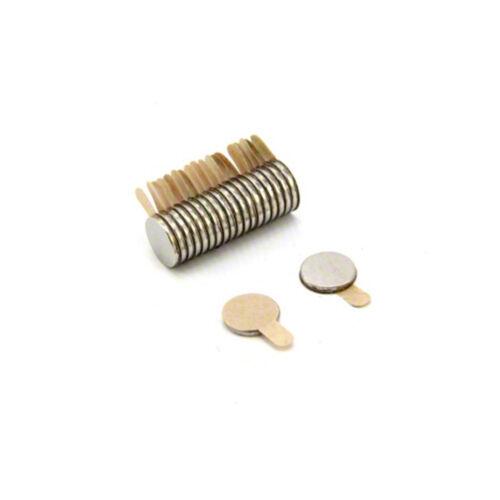 EasyPeel Adhesive 8mm dia x 1mm Neodymium Magnet North x20 0.2kg Pull