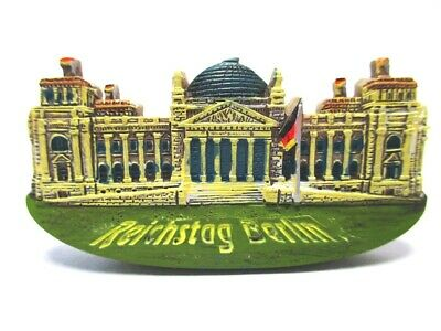 Berlin Magnet Poly Souvenir Germany Reichstag Mit Flagge Kuppel