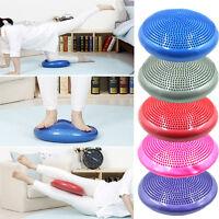 Yoga Balance Board Disc Gym Stability Air Cushion Wobble Pad Physio With Pump^^