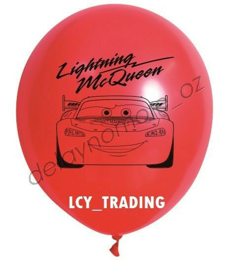 DISNEY CARS PARTY SUPPLIES PACK OF 10 MCQUEEN PRINTED BALLOONS 30CM RED BALLOONS