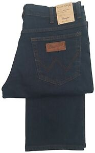 best authentic 48318 f8199 Details about MENS WRANGLER TEXAS STRETCH DENIM REGULAR FIT STRAIGHT LEG  ZIP FLY - BLUE BLACK