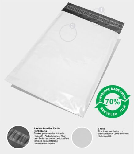 1000 Folienversandtaschen Coex Folientaschen Versandtüten FB02-225x325mm Gr.M