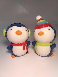Penguin-Salt-and-Pepper-Shakers-Vintage-Ceramic-Shaker-Set-Christmas-Cute