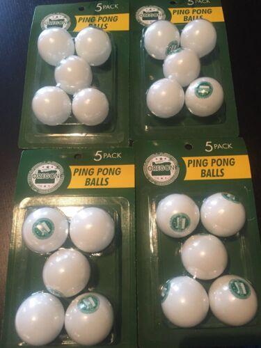 Oregon 5 Pack Ping Pong Balls Lot Of 4  Beer Pong