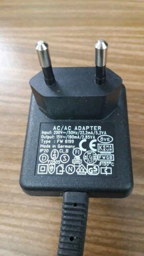 Mini-Connecteur Alimentation FW 6199 15 V ~ 190 Ma 2,85va