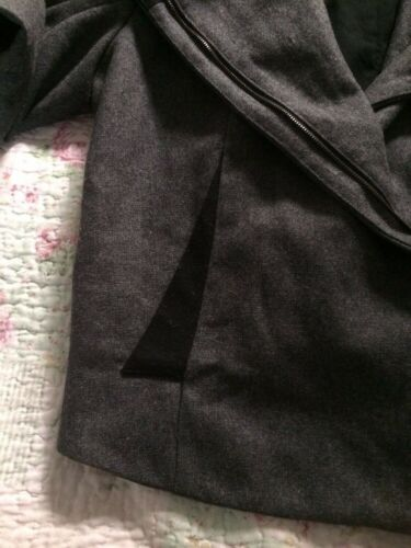 Giacca Cher lana approssimativa Vgc grigio misura Qu The di Cue 12 in pura di nero lana rq0fgr