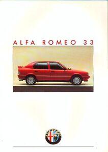 Alfa Romeo 33 range inc 4x4 & Quadrifoglio 1986 Italian market glossy brochure