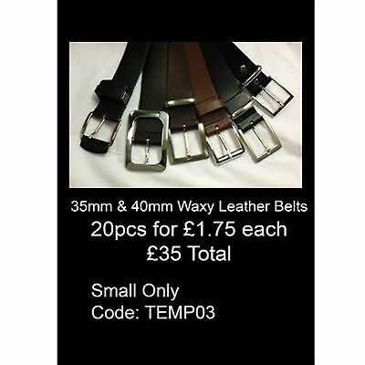 Intellective Wholesale Lot Offer Of Mix 35mm/40mm Waxy Leather Belts Made In England Temp03