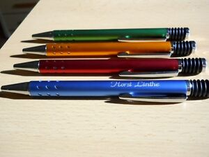 Kugelschreiber mit Gravur - schwarze Schreibmine