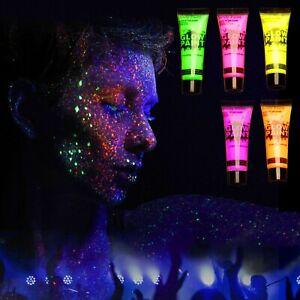 5-Party-Schwarzlicht-fluoreszierende-Farbe-Neon-Body-Glow-Paint-fuer-Koerper-UV