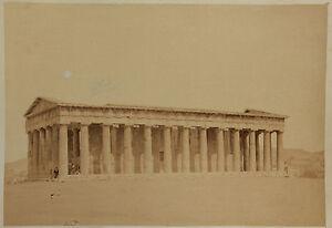 Grecia Atene Theseion Foto Vintage Albumina Ca 1880