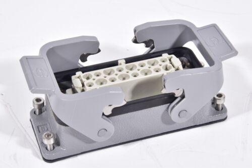 HARTING HAN 16 ES-F Industrie Steckverbinder mit Sockelgehäuse flach
