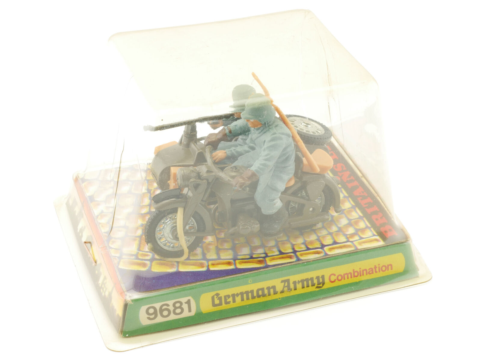 Britains 9681 German Wehrmacht Motorcycle Sidecar Diecast MIB Boxed 1608-28-86