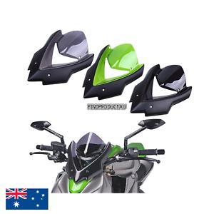 Black Double Bubble Windscreen Windshield visor cowls Kawasaki Z1000 2014-2017
