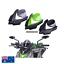 thumbnail 1 - Black Double Bubble Windscreen Windshield visor cowls Kawasaki Z1000 2014-2017