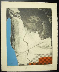 Charitable Estampe Originale Des Années 70 Art Moderne Artiste à Déterminer ? Moderne Et EléGant à La Mode