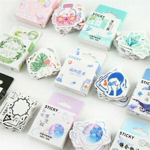 46PCS/set Cute Stickers Kawaii DIY Scrapbooking Diary Label Stickers Stationery
