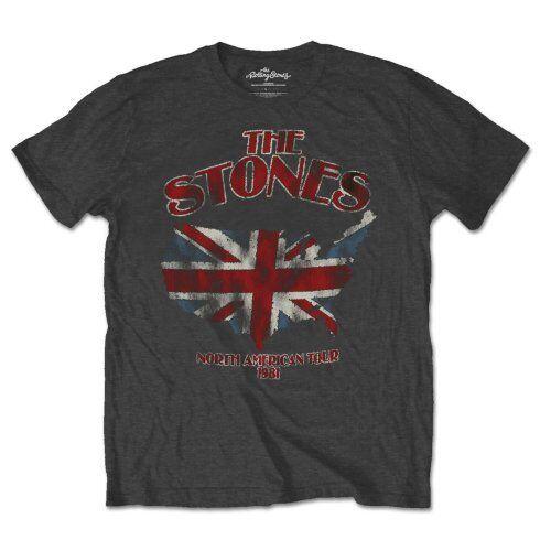 The Rolling Stones Union Jack US Map Official Merchandise T-Shirt M//L//XL Neu