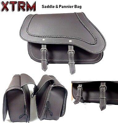 Satteltaschen Motorrad Gepacktasche Ledertaschen XTRM Touren Pannier Packtasche