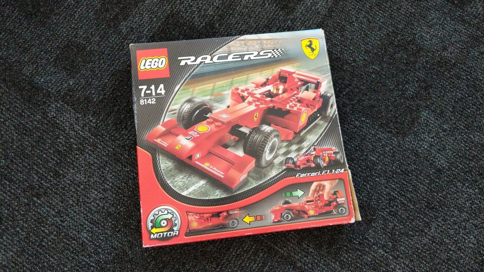 Lego 8142 Racers Ferrari F1 1 24 Boxed with Instructions