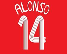 Alonso #14 Liverpool 2006-2008 Home Champions League Football Nameset for shirt