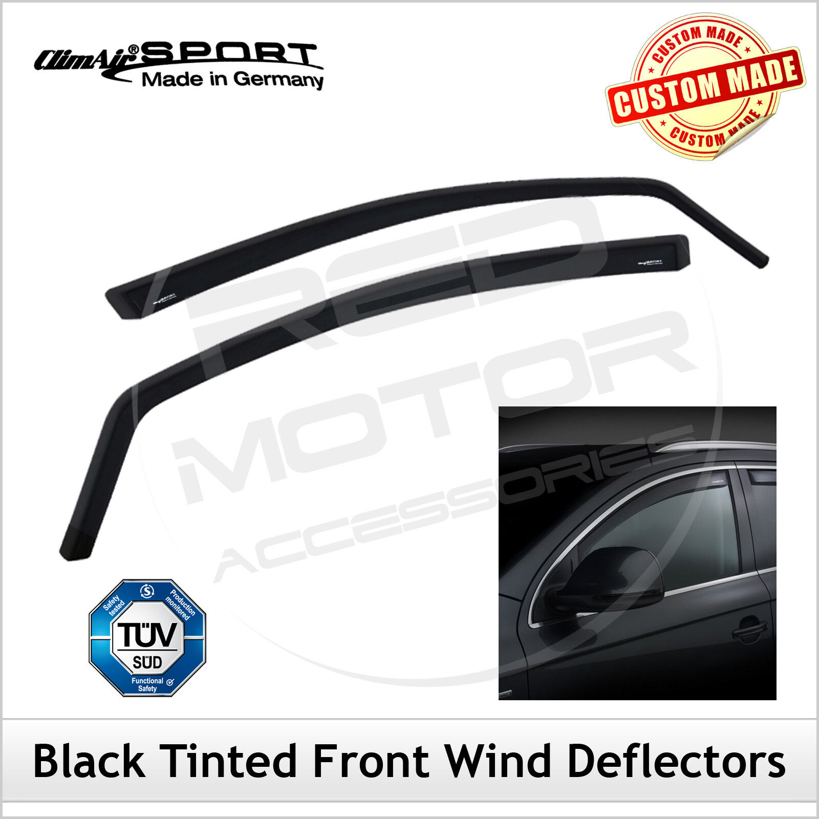 Climair Black Tint Truck Wind Deflectors Daf Xf 105 2006 2012 Front Vehicle Parts Accessories Lorry Truck Parts