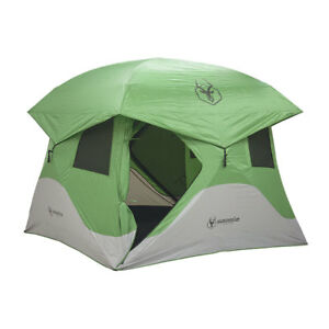 Gazelle-Tents-T4-8-039-Heavy-Duty-Pop-Up-Hub-4-Person-Outdoor-Camping-Tent-Green