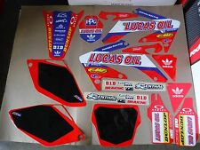 TEAM HONDA LUCAS OIL GRAPHICS & NUMBER PLATES CRF250R  2006 2007 2008 2009