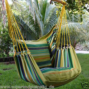 exp gr n gestreifter sessel h ngesessel h ngestuhl robin ohne mit kissen auswahl ebay. Black Bedroom Furniture Sets. Home Design Ideas